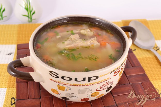 фото рецепта: Овощной суп с курицей