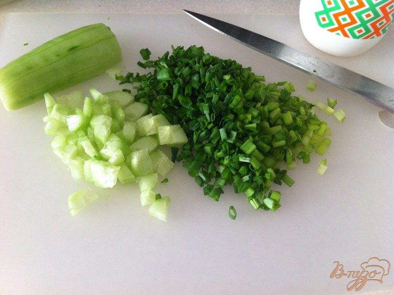 Салат яйца огурцы мясо