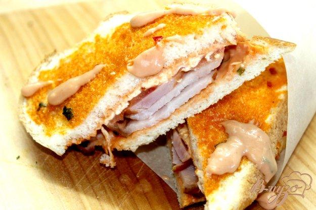 фото рецепта: Быстрый мясной сендвич