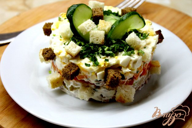 Русский салат пошагово