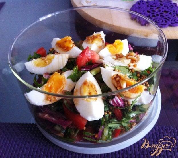 фото рецепта: Салат овощной с яйцом