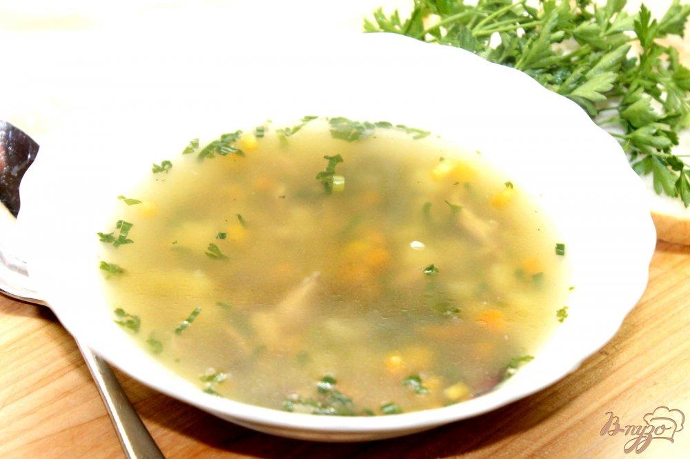 Суп с фасолью грибами и курицей