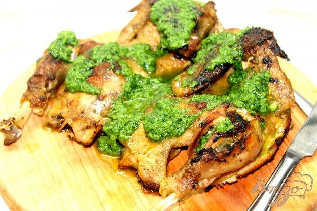 фото рецепта: Румяный цыпленок в чесночном соусе