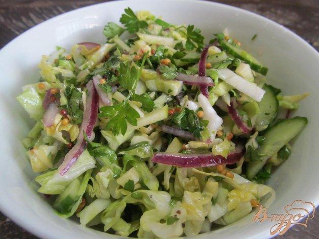 фото рецепта: Зеленый салат под соусом из шампанского