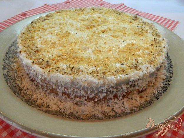 Торт бисквитные коржи со сметанным кремом