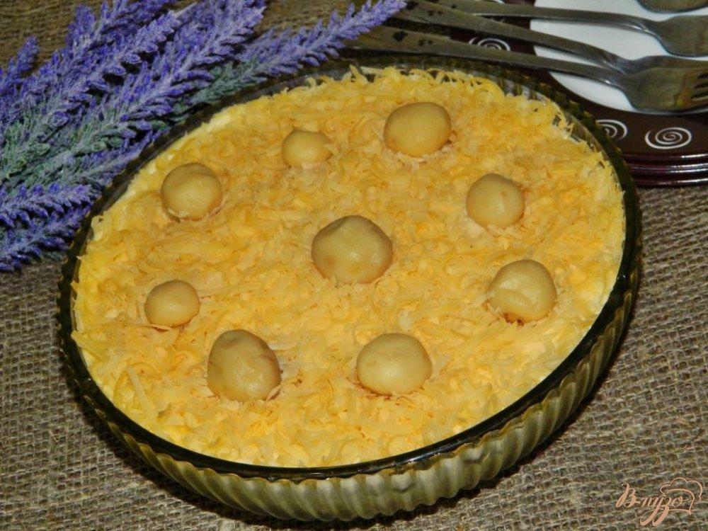 Салат с маринованными шампиньонами рецепт с слоеный