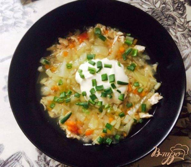 фото рецепта: Щи со свежей капусты с индейкой  для деток