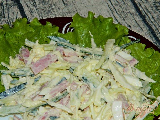 фото рецепта: Салат из пекинской капусты с ветчиной