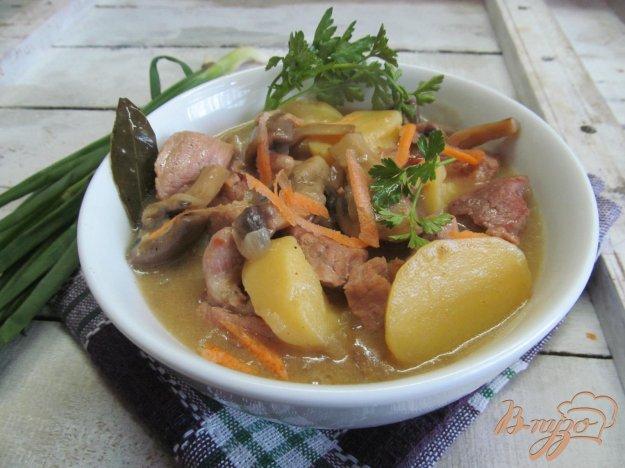 фото рецепта: Рагу из свинины с шампиньоном