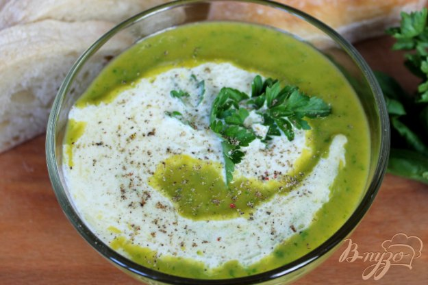 фото рецепта: Суп пюре со шпинатом и сливками