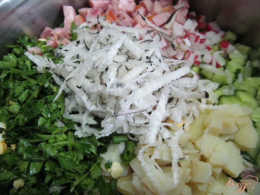 салат окрошка пошаговый рецепт с фото