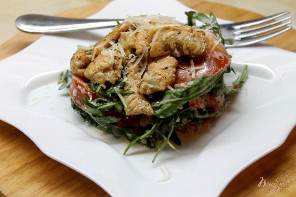 Салат с жареной семгой рецепт с фото