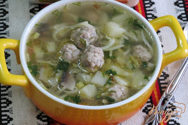 Суп с грибами и фрикадельками пошаговый рецепт