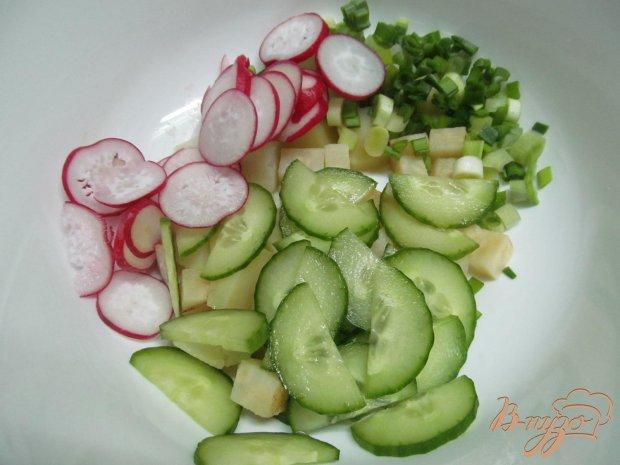 Салат летний с редиской рецепт с
