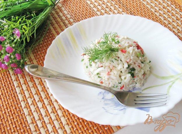 Салат из крабовых палочек и креветокы