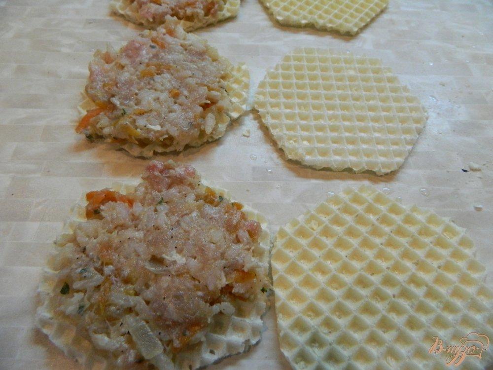котлеты в вафельных коржах в кляре рецепт с фото