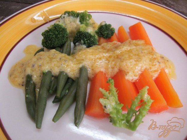 фото рецепта: Вареные овощи под голландским соусом