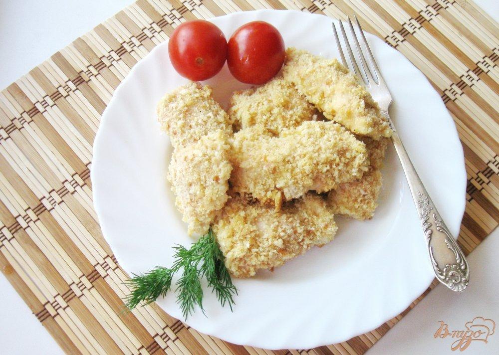 Куриное филе в сухарях в духовке рецепт