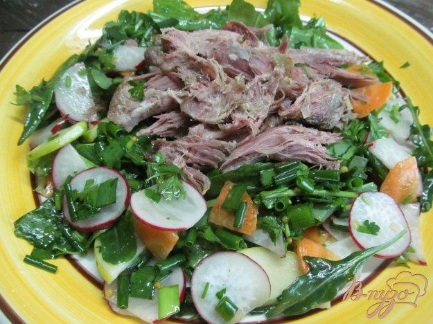 фото рецепта: Весенний салат с мясом и редисом