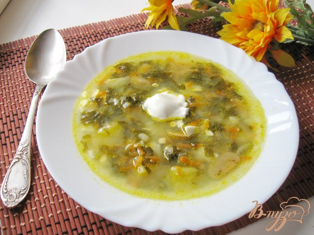 фото рецепта: Суп из щавеля с грибами