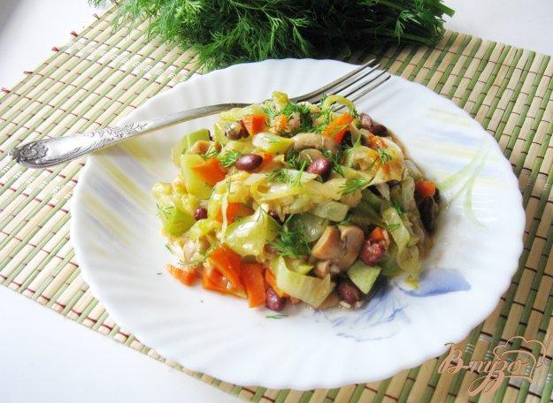 фото рецепта: Овощное рагу с грибами и фасолью