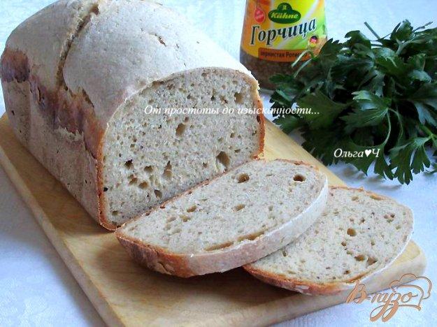 фото рецепта: Сметанный хлеб с горчицей и ржаной мукой