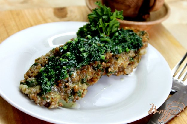 фото рецепта: Гречаники со шпинатом