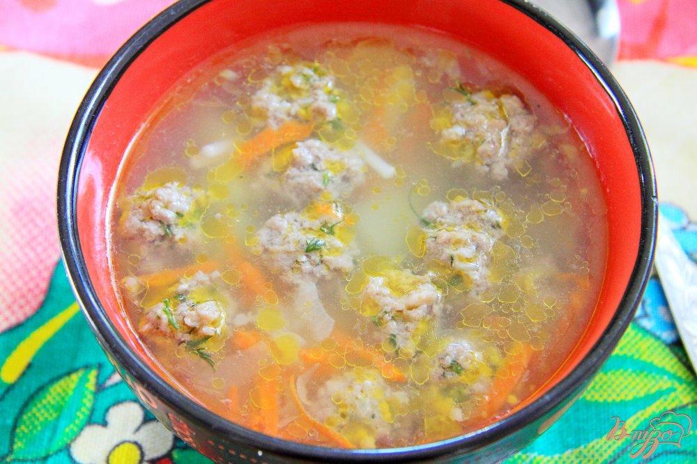 Суп из фрикаделек с вермишелью рецепт пошагово 4