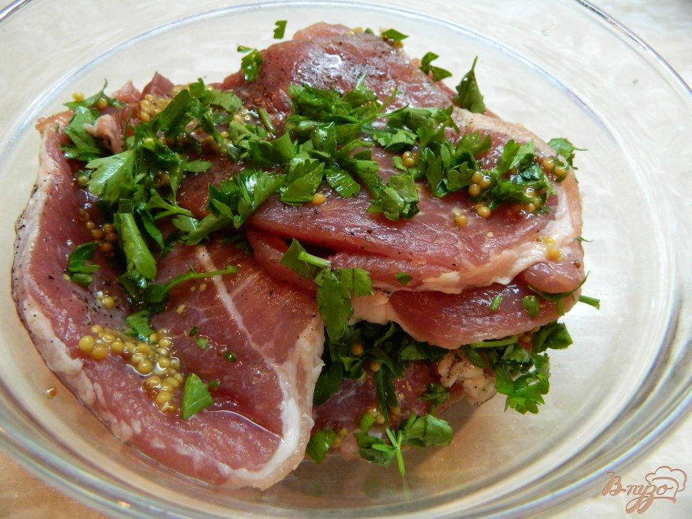 Отбивные из свинины рецепт с фото с горчицей