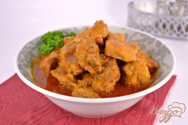 фото рецепта: Свинина тушеная в медово-горчичном соусе