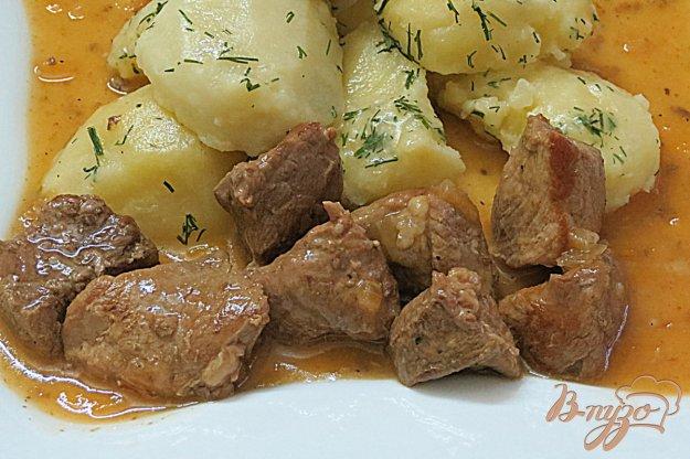 фото рецепта: Мясо в соусе по-деревенски