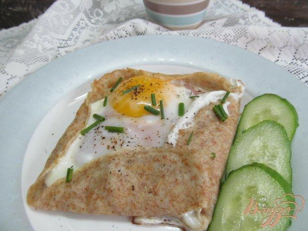 фото рецепта: Французские гречневые блинчики с яйцом