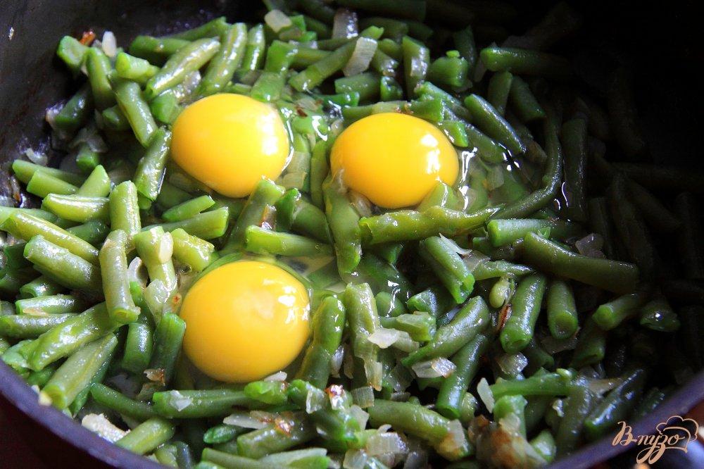 Как сделать фасоль с яйцами 772