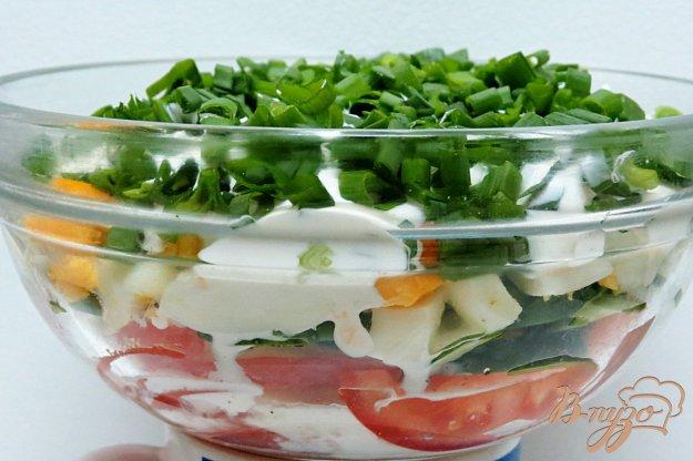 фото рецепта: Салат из овощей с чесноком