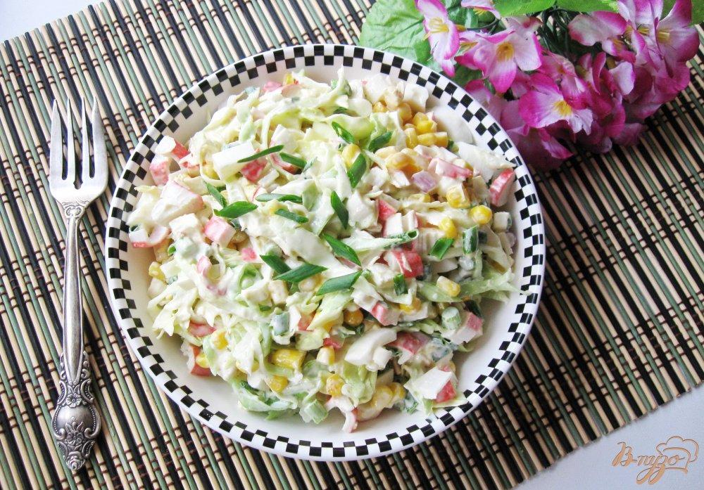 крабовые палочки с капустой салат рецепт