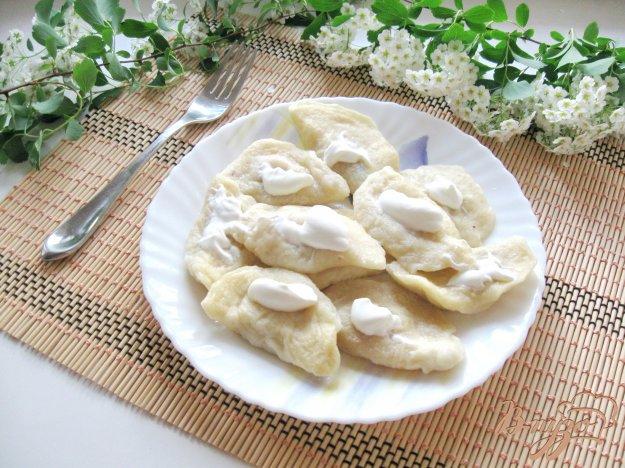 фото рецепта: Пышные вареники с картофелем и фасолью