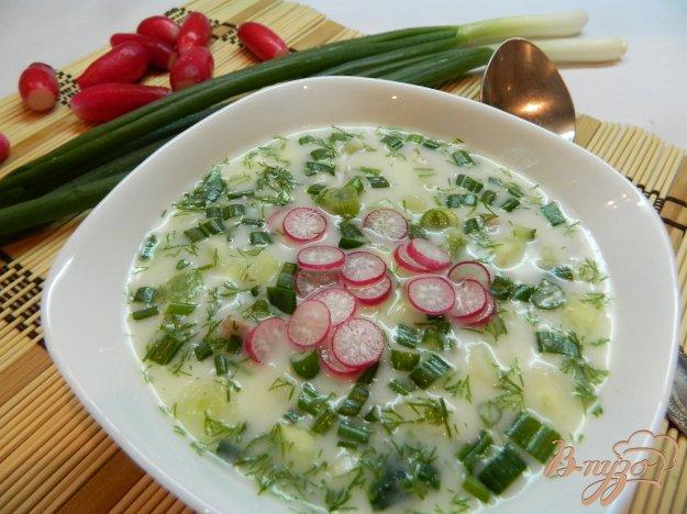фото рецепта: Холодный суп с лимонным соком и горчицей