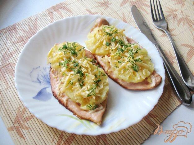 фото рецепта: Куриные отбивные с ананасом