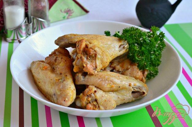 фото рецепта: Маринованные куриные крылышки на пару