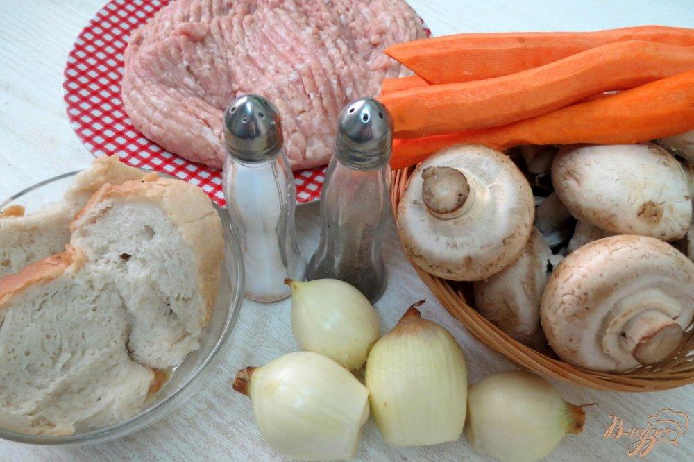 котлеты из фарша с начинкой из грибов рецепт