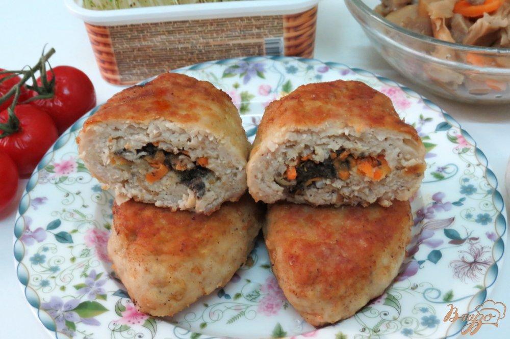 котлеты с сыром и грибами рецепт с фото в