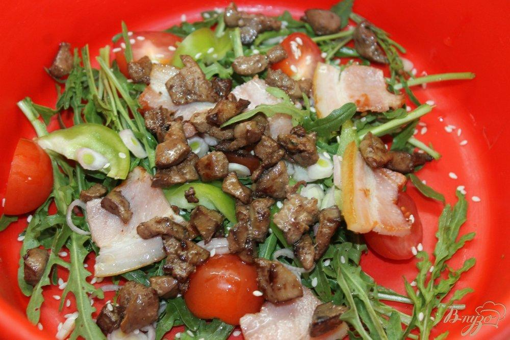 фото салат теплый мясной с