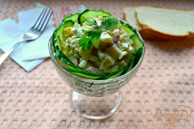 Салат из картофеля и свежих огурцов