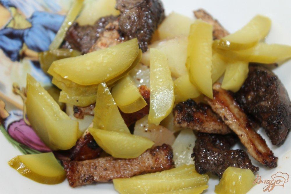 салат из печени с сухариками рецепты с фото
