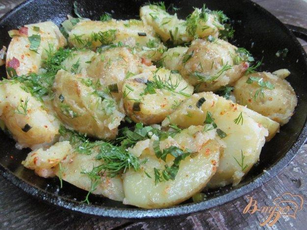 фото рецепта: Молодой картофель с беконом и мятой