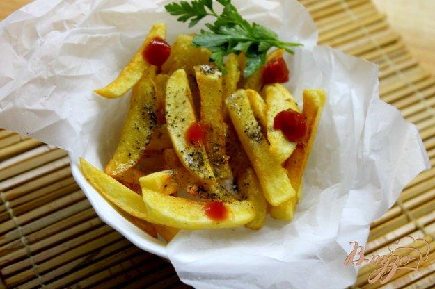 фото рецепта: Картофель фри из вареного картофеля