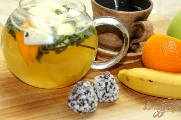 фото рецепта: Апельсиновый чай с мятой и имбирем
