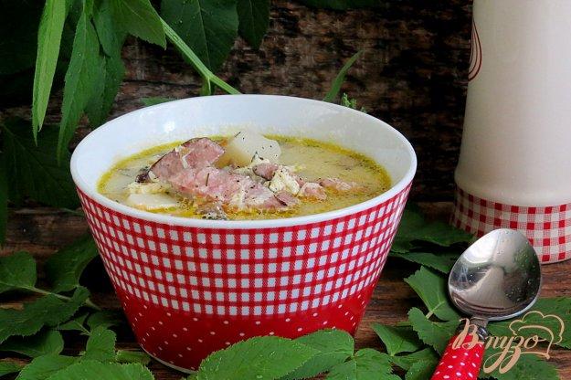 фото рецепта: Суп с копчёной колбасой