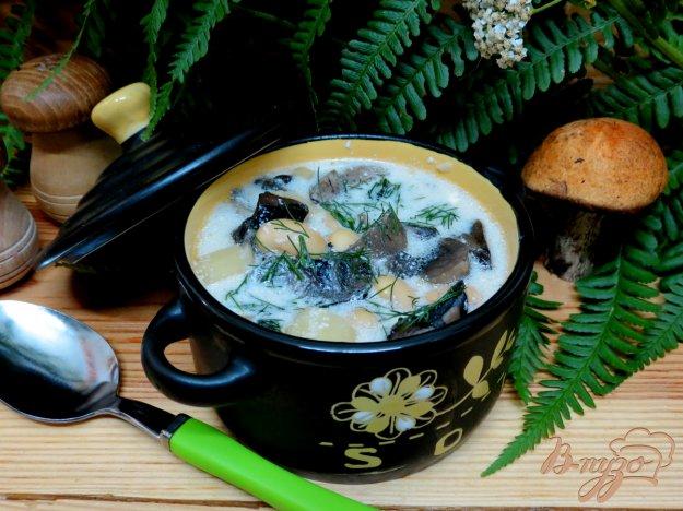 фото рецепта: Грибной суп с фасолью