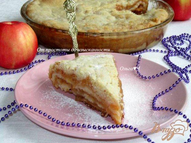 фото рецепта: Яблочный насыпной пирог с брусникой